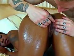 Cody Sky enjoys smashing hot ebony Tony Maries tight pussy in amazingly hot hardcore