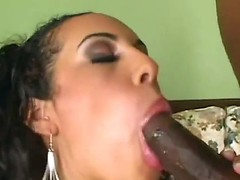Sexy sensational chocolate abe enjoys as her ass is licked before she is drilled hard
