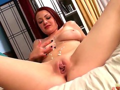 Wonderful big boobed chick Jessica Robbin is showing on camera her sweet naked body, her amazing shaved cunt and her awesome big ass. Enjoy the hot video.