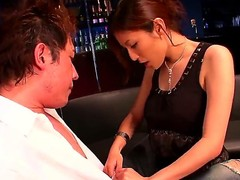 Amazing japanese slut Yuna Shiina was payed a couple of bucks for a good sex with her client. She is doing everything in order to please the guy and make him cum.