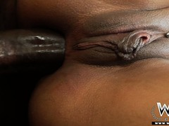 Gloomy bitch in stockings gets her tight ass pummeled by a homie