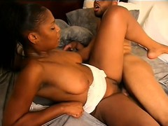 Black chick with a hot round booty gets fucked like a dirty whore