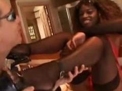Dick Guzzling Ebony MILF